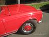 Bright red Mercedes 280 SL Automatic: wheel detail (Su_G) Tags: sug 2017 red car auto mercedes sydneynsw mercedes280slautomatic brightred redcar wheeldetail