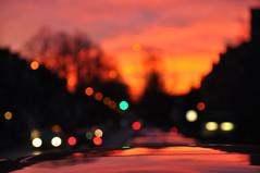 """""""fire"""" (nirak68) Tags: 084365 strase autos street cars lübeck stadt sonnenuntergang sundown rot orange sky himmel 2017ckarinslinsede lichter bokeh light schleswigholsteinkreisfreie deutschland schleswigholsteinkreisfreiehansestadtlübeck ger"""