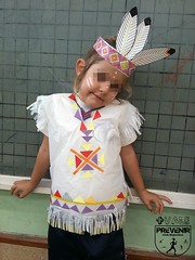 Disfraz de India casero (Mónica Santana) Tags: manualidades manualidadesconniños manualidadesparaniños diy disfrazindiacasero