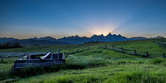 Abandoned Cabin, Grand Teton National Park (mikedemmingsphoto.com) Tags: landscape outdoor outside grandtetonnationalpark nationalpark wyoming explore adventure wilderness mountains sunset nikon nikond750 travel