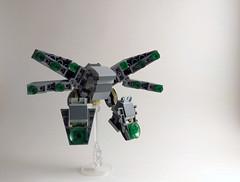 ADS Model JMX-D774 'Skipjack' (Jay Biquadrate) Tags: microscale moc mech mecha lego