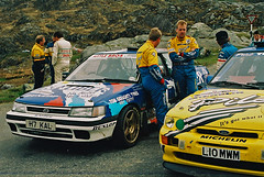 Killarney rally of the lakes 1994 (Aidophoto) Tags: ireland cars ford car nikon action rally kerry wrc subaru nikkor sti rs legacy escort rallye motorsport prodrive rallying msport kennymckinstry killarneyrallyofthelakes1994 stephenfinlay
