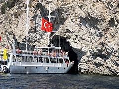 Marmaris 23 (mfnure31) Tags: turkey boat cave marmaris cruiseboat cavemouth rockformation turunc