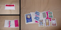The Celtic Tarot Deck and Book (prettyhandmadethings) Tags: pink cards book sewing silk canvas deck cotton tarot button celtic sewn knotwork