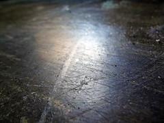 Asbestos Floor Tile Wear-Damage Close-up 2 (Asbestorama) Tags: tile floor wear damage flooring scratch scuff asbestos 9x9