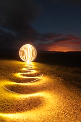 Craster Orb (- Hob -) Tags: longexposure lightpainting orb led northumberland craster 2044 sooc