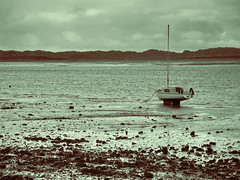Stranded (Paul Thickitt) Tags: ocean travel sea beach nature water river landscape boats coast boat fishing dock ship harbour yacht lakes lakedistrict estuary cumbria sail coastline lowtide fishingboat coastalpath esk ravenglass riveresk
