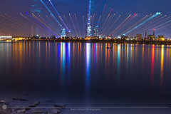 Across the Mighty Han (MarkDeibertPhotography) Tags: city urban water night lights cityscape view zoom korea seoul southkorea urbanscape hanriver