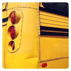 Summer School. (infa_reds) Tags: california ca school summer bus art oneaday yellow closeup kids losangeles santamonica perspective socal summertime 365 schoolbus iphone picoftheday summerschool bestphoto 2013 365project uploaded:by=flickrmobile flickriosapp:filter=nofilter