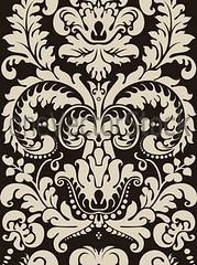 Floral pattern (oneVectorStock.com) Tags: old flowers wallpaper abstract texture geometric floral silhouette sign set modern illustration vintage pattern graphic drawing antique decorative background decoration creative victorian symmetry retro ornament elements classical swirls curl tradition outline ornate patchwork curve baroque shape ethnic vector scroll rococo arabesque archite