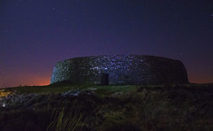 Griannan of Aileach at night (paddyrathbone) Tags: ireland night ruins nightsky burt donegal rath ringfort ancientireland nikond5100 griannanofaileach
