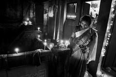 Facing one's own (shankarsarkar) Tags: light india home festival female night dark women candle mother relationship diwali emotions kolkata intimacy westbengal sonagachi redlightarea trafficked underprivillage