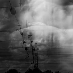 sleeping lines (Vasilis Amir) Tags: boy portrait sky blackandwhite abstract motion blur male window monochrome lines train square landscape experimental doubleexposure dream cable transparency transparent أمير mygearandme mygearandmepremium vasilisamir