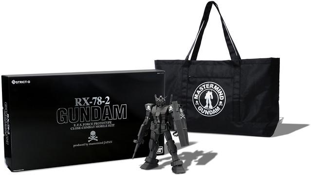 鋼彈 × mastermind 聯名第二彈! 漆黑的RX-78-2 登場!