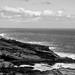 shore (nosha) Tags: ocean sea bw usa monochrome beautiful beauty rock island hawaii oahu tropical hawaii2013