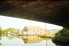 Castleford Marina (Saturated Imagery) Tags: film 35mm saturated toycamera castleford aireandcaldernavigation epsonv500 agphotographic photoshopelements9 kruidvatcolor200 keroppi35mm