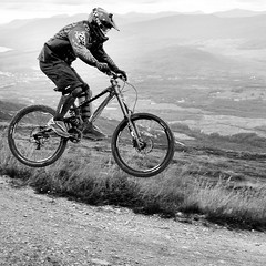 Downhill (»alex«) Tags: scotland mountainbike downhill squareformat mtb fortwilliam worldcupdownhill bennevisrange