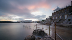 The Waterfront (jedlangdon) Tags: longexposure sunset water evening nikon rocks day waterfront cloudy plymouth tokina devon slowshutter westcountry thehoe plymouthsound tokina1116mm nikond7000 loveplymouth
