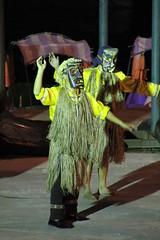Rongshui County/融水县 76 - Miao Dancers in Yubu/雨卜苗寨 (2807) (Petr Novák (新彼得)) Tags: china dance asia mask dancer asie 中国 miao hmong guangxi 舞蹈 表演 广西 rongshui 跳舞 亚洲 yubu 面具 čína