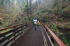 Photo-opper on the bridge crossing (rozoneill) Tags: park oregon creek silver state hiking south north falls salem sublimity wsweekly55