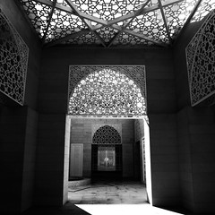 Light of Faith (Waheed Akhtar Photography) Tags: light blackandwhite white black architecture interior united fineart uae mosque emirates arab masjid ajman
