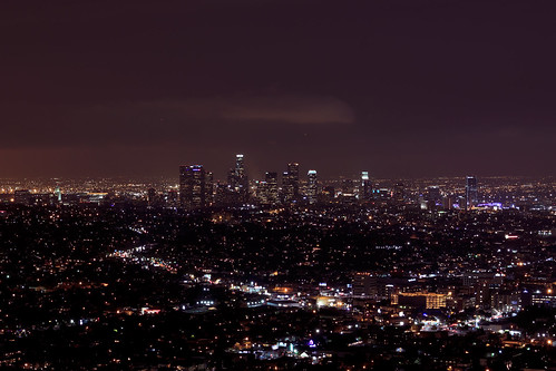 NIGHT SHOT OF LA