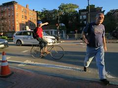 Low Sun (denizen8) Tags: street bicycle boston massachusetts pedestrian cambridgestreet denizen8 201309081102a