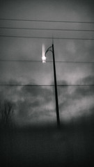 each light has a trail (lake.light) Tags: travel light abstract blur cold nature mystery night dark streetlight soft experimental seasons spirit magic ghost dream experiment surreal cine calm mysterious ghostly icm intentionalcameramovement cmount