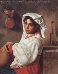Eugenio Prati Contadinella 1872 olio su tela 76 x 60 cm Collezione privata
