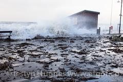 UK Weather. Huge tide hits Aberystwyth (www.atgof.co) Tags: storm seaweed weather debris wave gale aberystwyth prom massive promenade huge breaking tywydd rhodfa garw