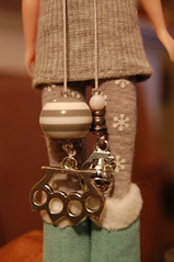 6/365: Weaponry (Melly Kay) Tags: doll blythe grenade charms brassknuckles pullstrings 365blythe
