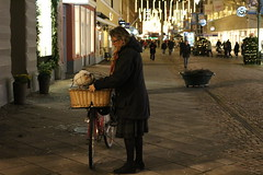 Malm city night (Palllew) Tags: city winter girls people color coffee girl canon eos evening sweden pancake 40mm malm brightlightsbigcity 100d