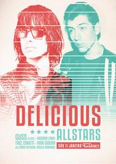 Delicious All Stars (Caxahell) Tags: poster arte sãopaulo gig cine funhouse posters augusta rua festa flyers ilustração cartaz balada caxahell