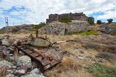 M24 Chaffee tank (Peter Bromley) Tags: abandoned nikon rust tank military rusty greece abandon lesvos armored lesbos 1944 urbex chaffee d600 m24