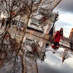 more eyes, more puddles, more rain (auketts) Tags: city reflection london eye reflections square puddle cityscape londoneye bigben reflected reflect squareformat southbankcentre mywalktowork londononly londonpop iphoneography instagramapp uploaded:by=instagram foursquare:venue=4ac518cef964a52021a620e3 puddlegram
