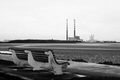 Pigeon House Dublin, February 2014 (Dave Road Records) Tags: blackandwhite lighthouse monochrome pigeonhouse chimneys poolbeg sandymount southwall ringsend irishlighthouse dublinchimneys