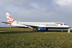 G-LCYJ British Airways E190 at Southend EGMC (AeroPics) Tags: storm britishairways londoncityairport sen diversion cfe embraer190 divert e190 bacityflyer egmc londonsouthendairport e190sr glcyj positioningflight highwubds weatherdivert