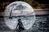 The little girl in the bubble