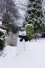 Alfred (plattbridger) Tags: winter snow snowman snowmen alfred snowing