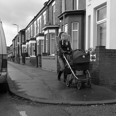 salford woman (Broady - Salford art and photography) Tags: life street uk people urban bw manchester photography mono living documentary salford irlamsothheight broady broadhurst salford180314