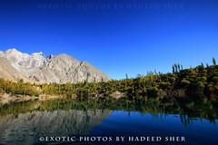 Mirrored (C@MARADERIE) Tags: pakistan lake mountains reflection landscape bluesky symmetry ripples northernareas beautifulpakistan upperkachura lakeofpakistan lakesofpakistan