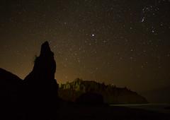 California Rocky Shoreline on a starry Night (Brett Abernethy(www.brettabernethy.com)) Tags: california beach night shorelines rocky trinidad starry