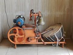 A Drumming and Bell Ringing Machine (mikecogh) Tags: wheel bells weird drum machine odd generator pulley drumsticks nadi srisivasubramaniyatemple