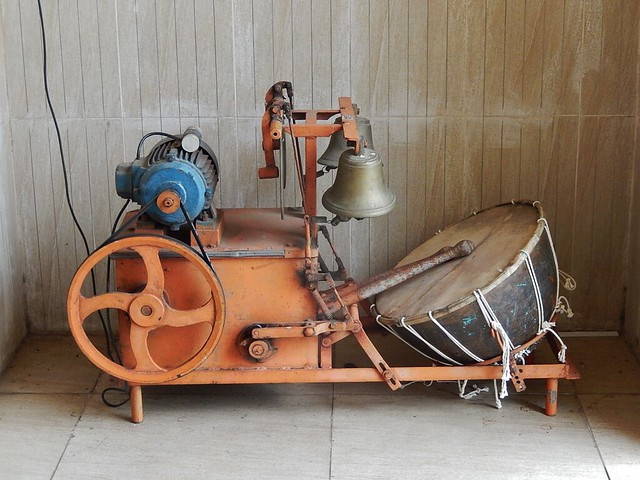 A Drumming and Bell Ringing Machine