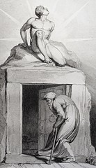 """""""Death's Door"""" by Louis Schiavonetti after William Blake. From """"The Grave, A Poem"""" by Robert Blair (1808) (lhboudreau) Tags: art grave graveyard illustration vintage death book design etching poetry artist poem drawing illustrated illustrations drawings books engraving artists soul poet designs blake artbook williamblake engravings hardcover etchings vintagebook engraver 1808 illustratedbooks poetrybook illustratedbook vintagebooks deathsdoor engravers apoem hardcovers robertblair hardcoverbooks hardcoverbook thegrave cromek louisschiavonetti schiavonetti graveyardpoetry thegraveapoem robertcromek"""