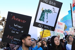 NoBanNoWall Protest San Francisco City Hall (SFPressPhotos/DavidToshiyuki) Tags: nobannowall no ban wall refugee immigrant immigration san francisco city hall protest muslim arab indian
