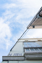 La perla de Cádiz (Javier Palacios Prieto) Tags: street clouds sky blue building perspective tokina 11 20 11mm