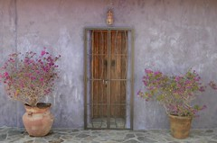 Purples (The Wild Roam Free) Tags: todossantos purple adobe doorway baja mexico casita