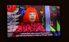 Yayoi Kusama at the Hirshhorn Museum, Washington, D.C. (lhboudreau) Tags: artatthehirshhorn art artmuseum artist hirshhorn hirshhornmuseum museum kusama yayoikusama exhibit exhibition vibrantcolors brightcolors artwork artworks redwig red wig smithsonian priestessofthepolkadots bewigged contemporaryart japaneseartist infinitekusama spheres dots polkadots influentialartist neurosis worldfamous colors psychedelic psychedeliccolors 2017 princessofpolkadots