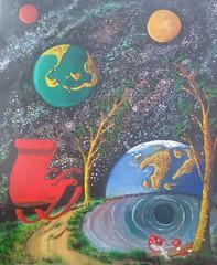ANOMALIA (tomas491) Tags: anomalia painting mixedmedia fantasy earth planets universe fantasypainting surreal acrylicoilpainting stars galaxies